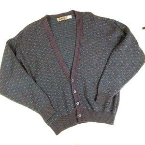 Vintage Janzten Purple Marbled Slouchy Cardigan